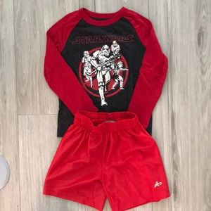 Like New Size 4/5 Star Wars Shirt and BBall Shorts